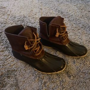 Leather Sperry Saltwater Buck Boots - Brown